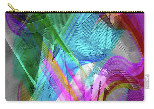 Carry-all Pouch featuring the digital art Harp by Visual Artist Frank Bonilla