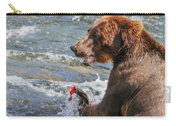 Have A Seat And Fish With  Me If You Dare Carry-all Pouch