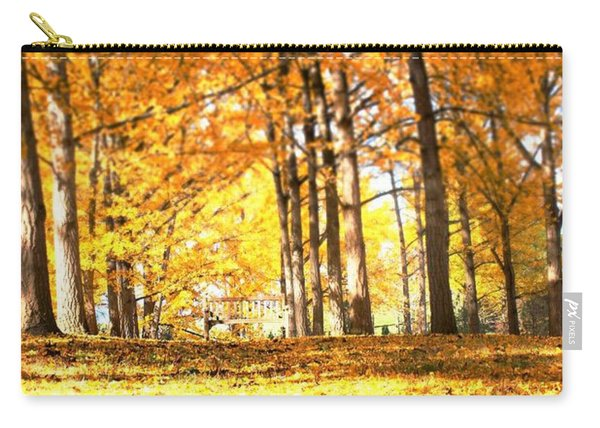 Carry-all Pouch featuring the photograph Have A Seat by Candice Trimble