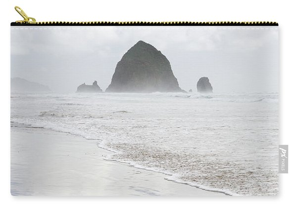 Carry-all Pouch featuring the photograph Haystack Rock by Tim Newton