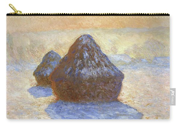 Haystacks, Snow Effect - Digital Remastered Edition Carry-all Pouch