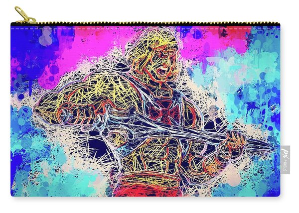 Carry-all Pouch featuring the mixed media He - Man by Al Matra