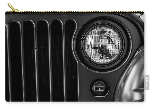 Carry-all Pouch featuring the photograph Headlight, Jeep by Edward Lee