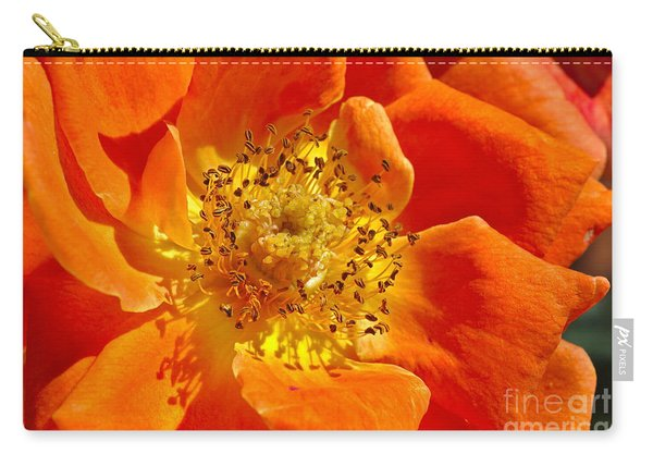 Heart Of The Orange Rose Carry-all Pouch