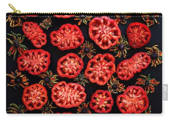 Heirloom Tomato Grid Carry-all Pouch