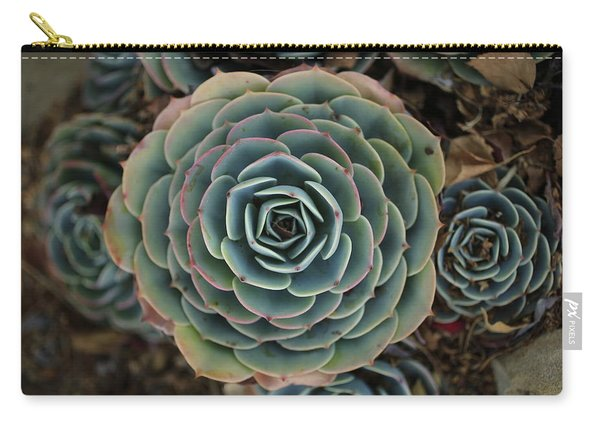 Hen And Chicks Succulent Carry-all Pouch