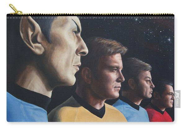 Heroes Of The Final Frontier Carry-all Pouch