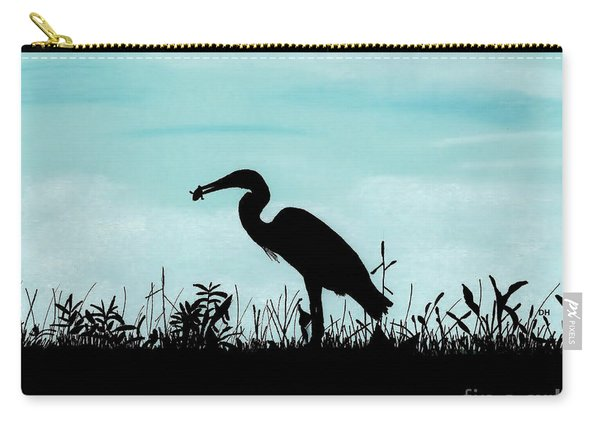 Heron Has Supper Carry-all Pouch