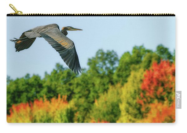 Heron In Autumn  Carry-all Pouch