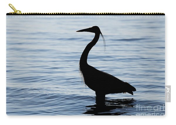 Heron In Silhouette Carry-all Pouch