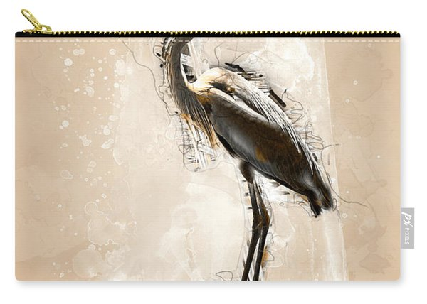 Heron On Post Carry-all Pouch