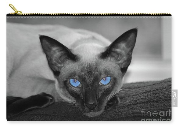 Hey There Blue Eyes - Siamese Cat Carry-all Pouch