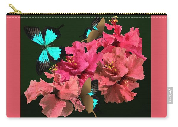 Hibiscus Butterfly Joy Carry-all Pouch