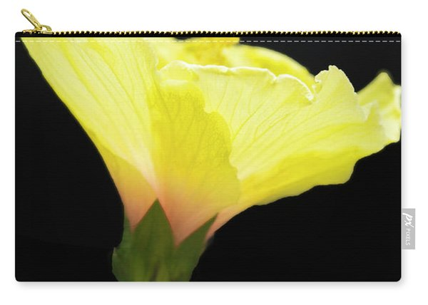 Hibiscus In Black Carry-all Pouch