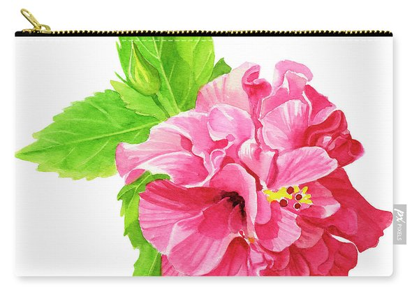 Hibiscus Rosa-sinensis Carry-all Pouch