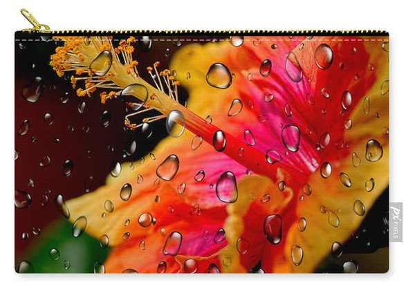 Hibiscus Through Raindrops By Kaye Menner Carry-all Pouch