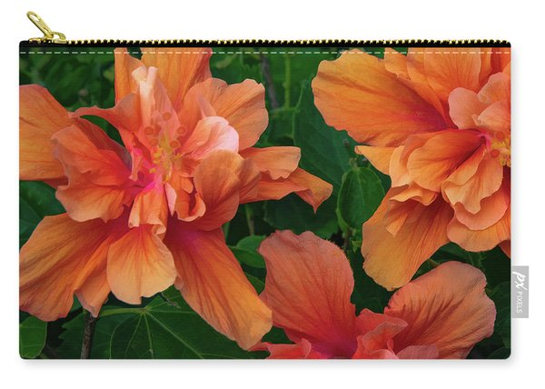 Hibiscus Tripcus Orangus Carry-all Pouch