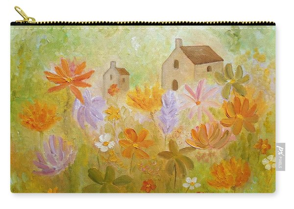 Carry-all Pouch featuring the painting Hidden Folk by Angeles M Pomata