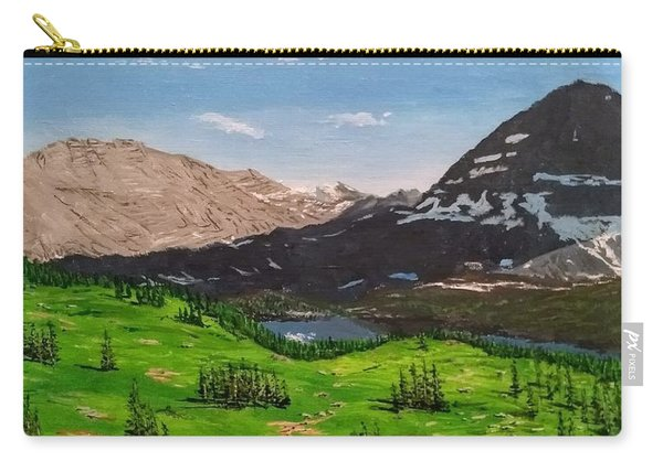 Carry-all Pouch featuring the painting Hidden Lake Pass by Kevin Daly