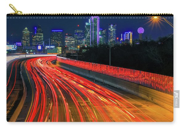 Highway Lights Into Dallas Texas Carry-all Pouch