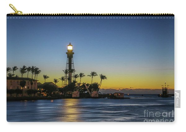 Carry-all Pouch featuring the photograph Hillsboro Light Reflection by Tom Claud