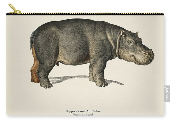 Hippopotamus  Hippopotame Amphibie Illustrated By Charles Dessalines D' Orbigny  1806-1876  Carry-all Pouch