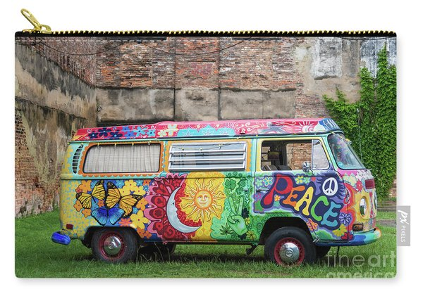 Hippie Dippie Vw Micro Bus Carry-all Pouch
