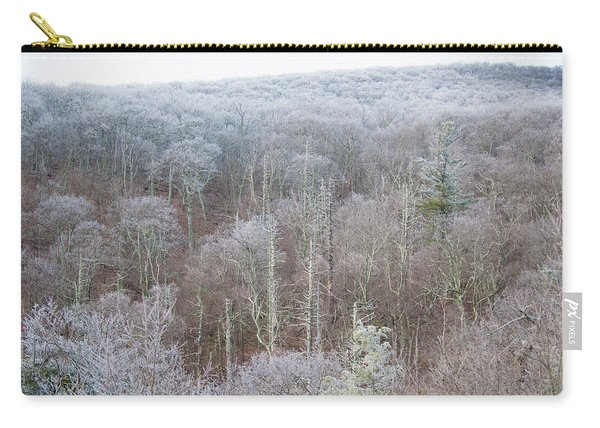 Hoarfrost In The Tree Tops Carry-all Pouch