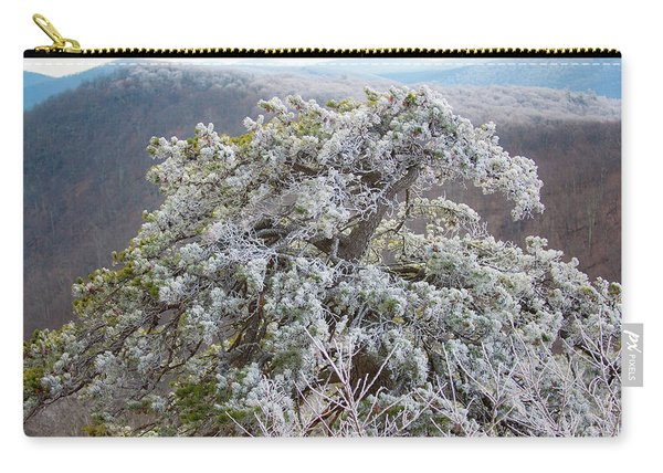 Hoarfrost On Trees Carry-all Pouch