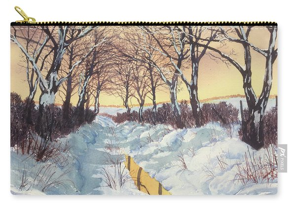 Tunnel In Winter Carry-all Pouch