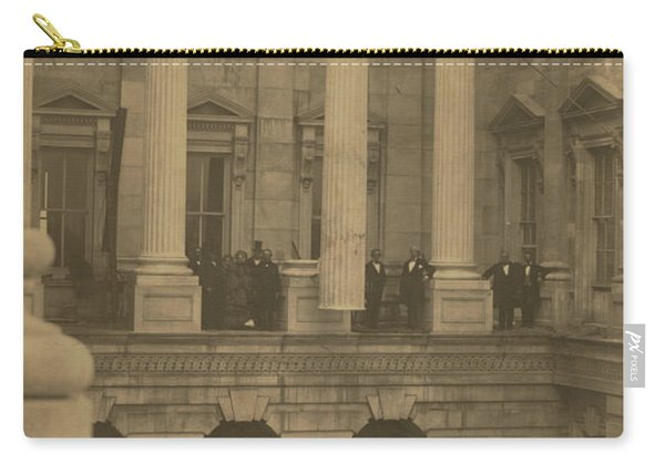 Hoisting Final Marble Column At United States Capitol Carry-all Pouch