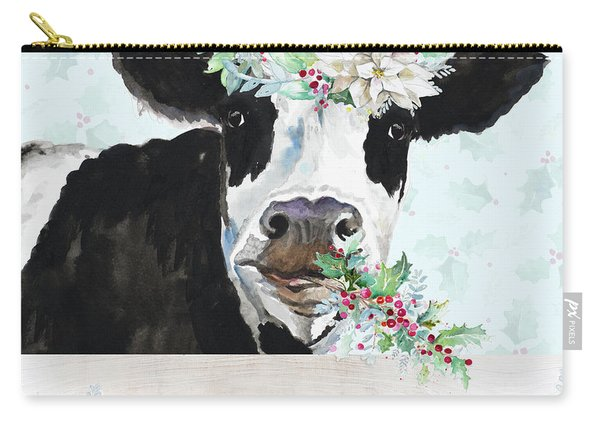 Holiday Crazy Cow Carry-all Pouch