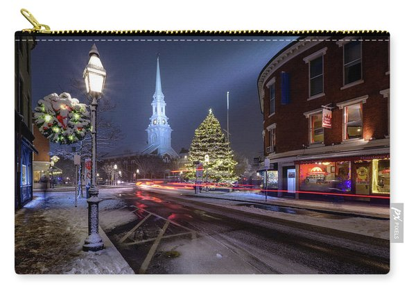 Carry-all Pouch featuring the photograph Holiday Magic, Market Square by Jeff Sinon