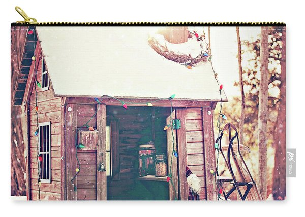 Holiday Shed Carry-all Pouch
