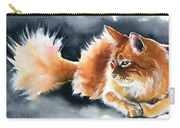 Holy Ginger Fluff - Cat Painting Carry-all Pouch