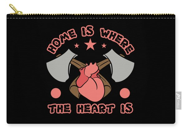 Home Is Where The Heart Is Tee Design Makes A Nice And Cute Gift To Your Friends And Family Too  Carry-all Pouch