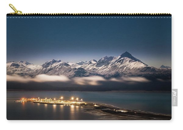 Homer Spit With Moonlit Mountains Carry-all Pouch