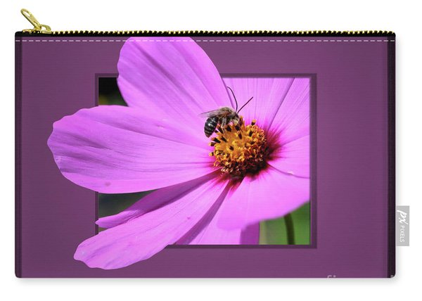 Honey Bee On Pink Carry-all Pouch