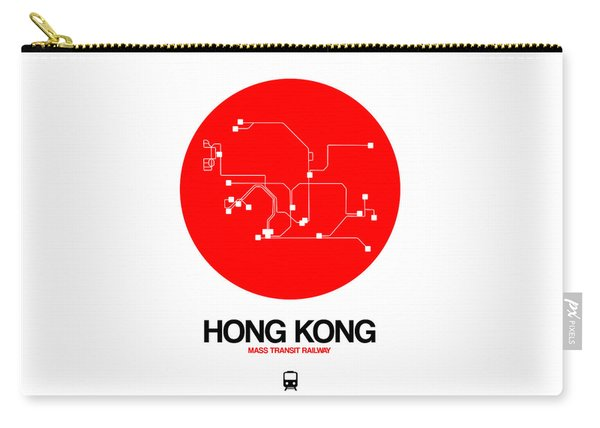 Hong Kong Red Subway Map Carry-all Pouch