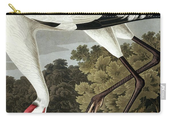 Hooping Crane, Grus Americana By Audubon Carry-all Pouch