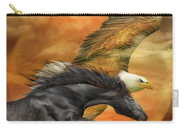 Horse And Eagle - Spirits Of The Wind  Carry-all Pouch