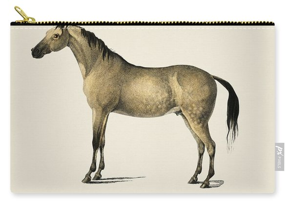 Horse  Equus Ferus Caballus  Illustrated By Charles Dessalines D' Orbigny  1806-1876  Carry-all Pouch