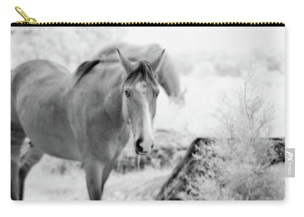 Horse In Infrared Carry-all Pouch