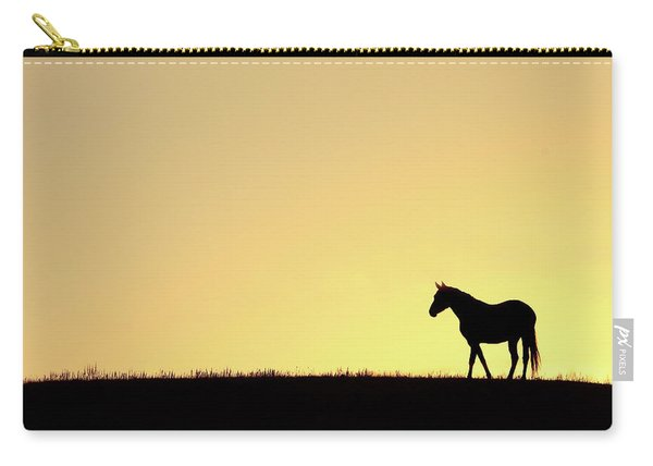 Horse On A Hilltop Carry-all Pouch