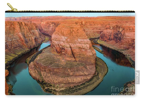 Carry-all Pouch featuring the photograph Horseshoe Bend by Dheeraj Mutha
