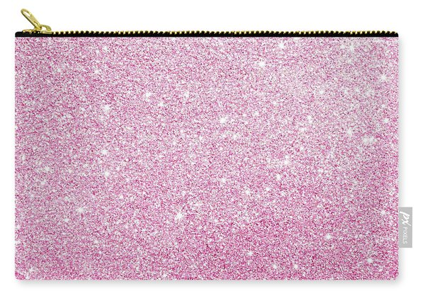 Hot Pink Glitter Carry-all Pouch