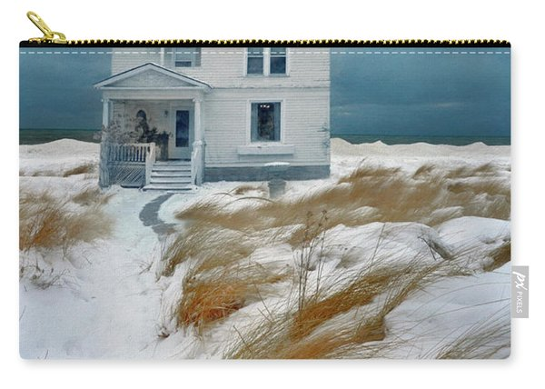 House In Snow Carry-all Pouch