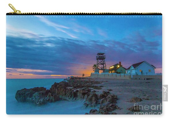 Carry-all Pouch featuring the photograph House Of Refuge Morning by Tom Claud