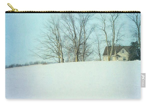House On A Snowy Hill Carry-all Pouch