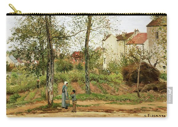 Houses At Bougival, Autumn - Digital Remastered Edition Carry-all Pouch